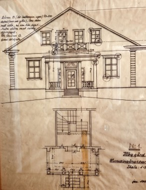 Päärakennuksen piirustus F Nyberg.