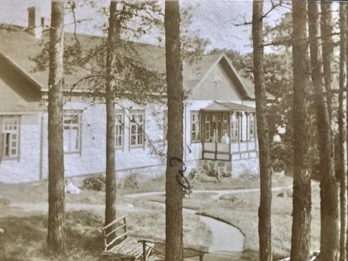 Vy över karaktärsbyggnaden på början av 1910 -talet