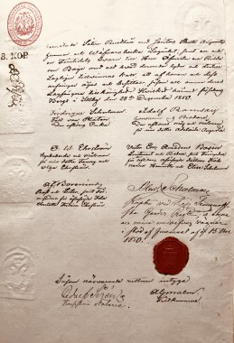 Ostosopimus Ilolan Kartanosta 1850. Kartano ostettiin Schulmanin suvulta huutokaupassa.