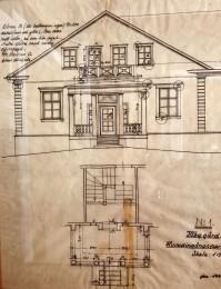 Huvudentrens ritning av F Nyberg.